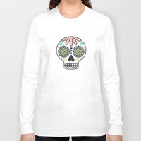 sugar skull Long Sleeve T-shirts featuring Sugar Skull by Liz Urso