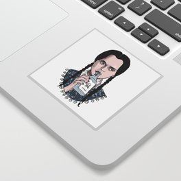 Stay creepy - Wednesday Addams illustration Sticker