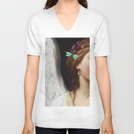 Angel With A Pearl Earring Unisex V-Neck