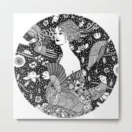 Gustav Klimt - Lady with fan Metal Print