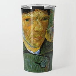 Self Portrait with Bandaged Ear by Vincent van Gogh Travel Mug