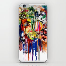 The Man Who Looked Through the Looking Glass and Saw Himself iPhone Skin