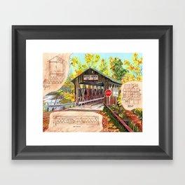 Rebuild the Bridge Framed Art Print