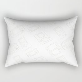 Gameboy History Skin Rectangular Pillow
