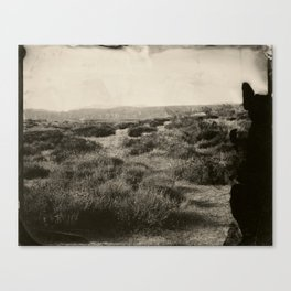 Tintype of Western Landscape Canvas Print