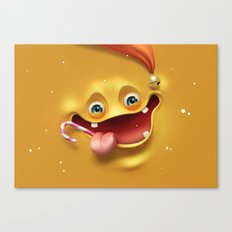 Christmas mad face Canvas Print