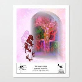 The Rose Window Canvas Print