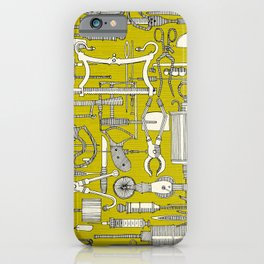 fiendish incisions chartreuse iPhone Case