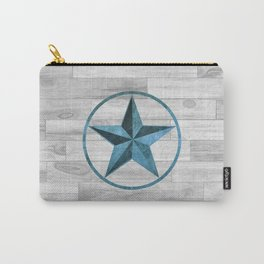 Rustic Western Style Star (Blue) Carry-All Pouch