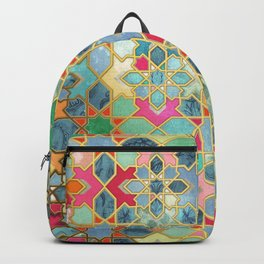 Gilt & Glory - Colorful Moroccan Mosaic Backpack