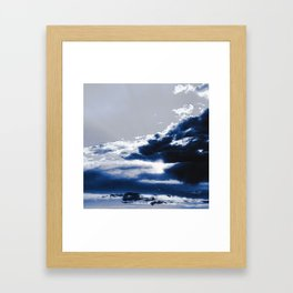 arctic blue landscape Framed Art Print