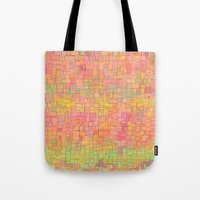 metropolis Tote Bags featuring Metropolis  by Lisa Argyropoulos