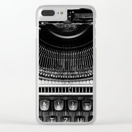 Typewriter Clear iPhone Case