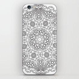 Magic flower mandala iPhone Skin