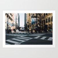 Crosswalks Art Print