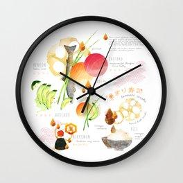 temari sushi Wall Clock