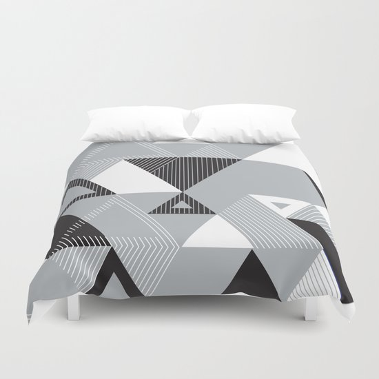 Silver Transparency Duvet Cover