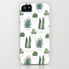watercolour cacti and succulent iPhone (5, 5s) Slim Case