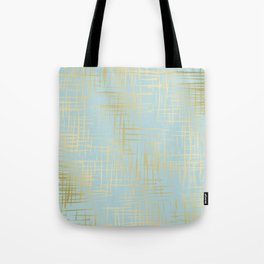 Crosshatch Light Blue Tote Bag