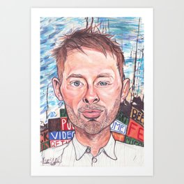 Thom Yorke Radiohead Hail to The Theif Art Print