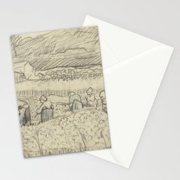 Landscape with Peasant Women Harvesting Stationery Cards