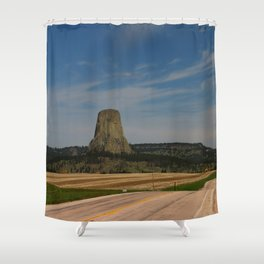Road To Devils Tower Shower Curtain