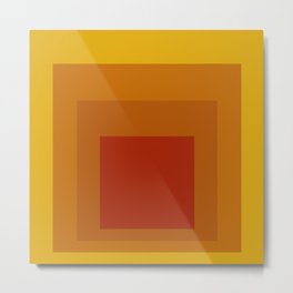 Block Colors - Yellow Orange Red Metal Print