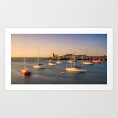 Howth harbour lighthouse - Ireland (RR139) Art Print