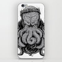 cthulu iPhone & iPod Skins featuring The Octopus KIng by StinkBrain