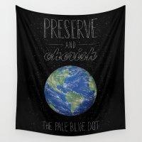 sagan Wall Tapestries featuring Pale Blue Dot by Fil Gouvea