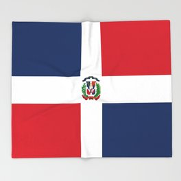 Flag of the dominican republic Throw Blanket