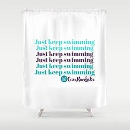 Just keep swimming at Cave Run Lake Shower Curtain