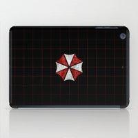 evil dead iPad Cases featuring Resident Evil Umbrella Corporation  by DavinciArt