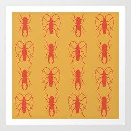 Beetle Grid V3 Art Print