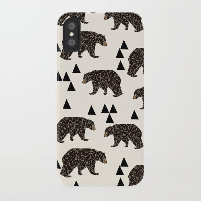 Geo Bear by Andrea Lauren iPhone Case