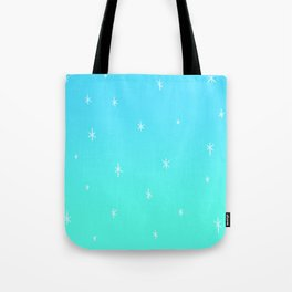 Frozen Icy Snowy Ombre Design! Tote Bag