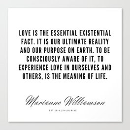 57  |  Marianne Williamson Quotes | 190812 Canvas Print