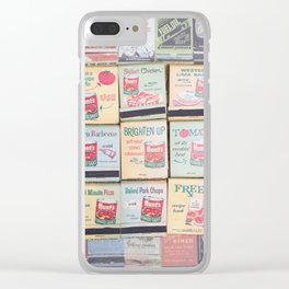 Vintage Matchbooks Clear iPhone Case