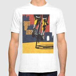 Retro Tour de France Cycling Illustration Poster: Shut Up Legs T-shirt