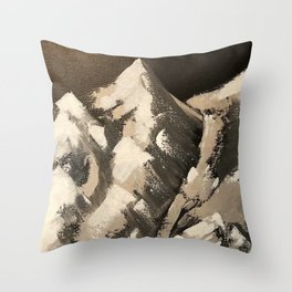 Silver Mountains Throw Pillow