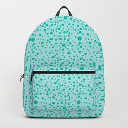Postmodern Granite Terrazzo Large Scale in Mint + Teal Backpack