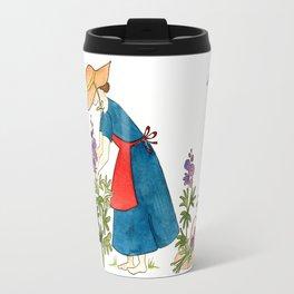 Gardening Lady Travel Mug