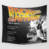 mcfly Wall Tapestries featuring Back to The Future 2 Colors by Universo do Sofa - Artes & Etecetera