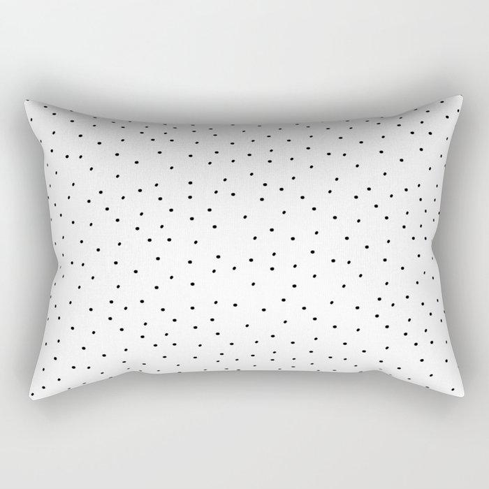 Dots White Rectangular Pillow