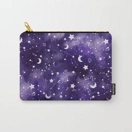 Zodiac Watercolor Ultraviolet Carry-All Pouch