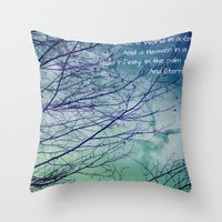 poem Throw Pillows featuring Favorite Poem... by Julia Kovtunyak