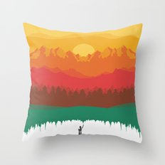 Layers Of Nature Throw Pillow