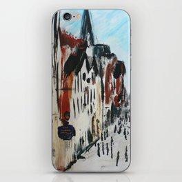 Eastgate Street, Chester, England Impressionist Fine Art iPhone Skin
