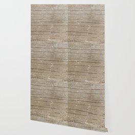 Nautical Driftwood Wood Grain Pattern Wallpaper
