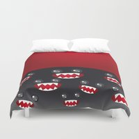 monsters Duvet Covers featuring Monsters  by EkaterinaP